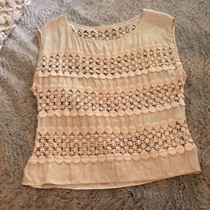 Tops - Silk & cotton lace top